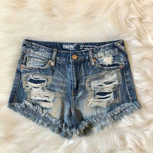Mossimo Distressed High Rise Short Shorts 0/25